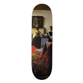 The Music Lesson by Johannes Vermeer Skate Board Decks