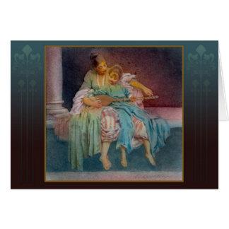 """""""The Music Lesson"""" - fine art watercolor Card"""