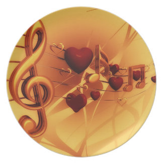 The Music of Love: Custom Plate