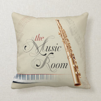 The Music Room Flute Pillow