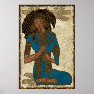 The Musician Egyptian Folk Art Poster