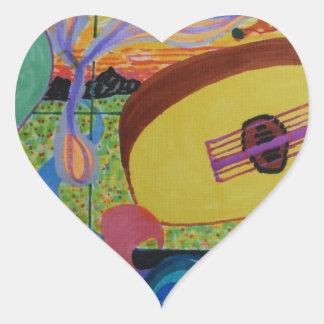 The musician's room heart sticker