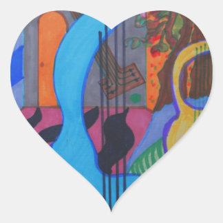 the musician's studio heart sticker
