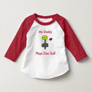 The My Daddy Plays Disc Golf toddler sleeved shirt