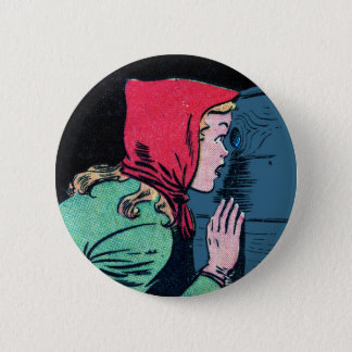 The Mystery Beyond the Peephole! 2 Inch Round Button