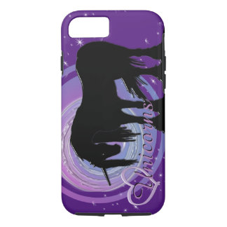 The Mystical Black Unicorn (Purple/Blue Blur) iPhone 8/7 Case