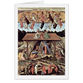 The Mystical Nativity By Sandro Botticelli Card