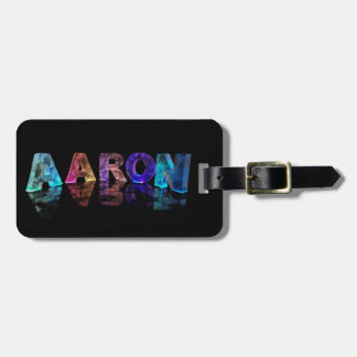 The Name Aaron in Lights Luggage Tag