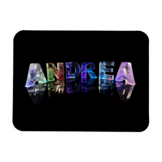The Name Andrea in Lights Magnet