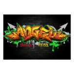 The name Angel in graffiti Poster