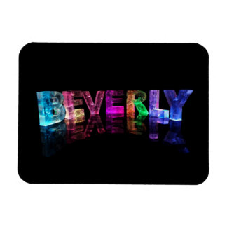 The Name Beverly in 3D Lights Magnet