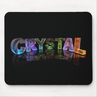 The Name Crystal in 3D Lights Mouse Pad