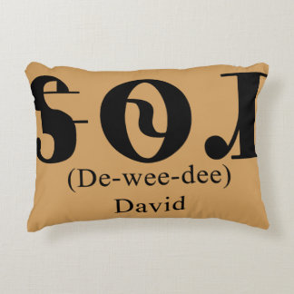"""The name """"David"""" in Cherokee on an Accent Pillow"""