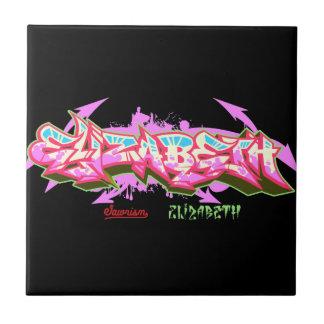 The name Elizabeth in graffiti-Ceramic Tile