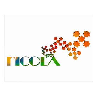 The Name Game - Nicola Postcard