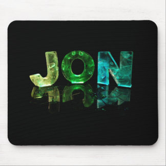 The Name Jon in 3D Lights (Photograph) Mouse Pad