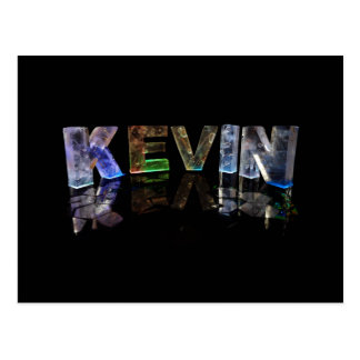 The Name Kevin in 3D Lights (Photograph) Postcard