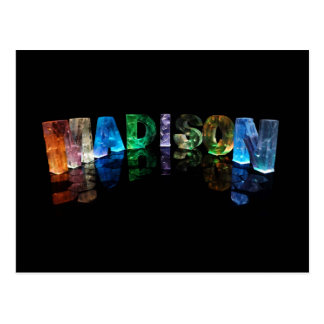 The Name Madison in 3D Lights (Photograph) Postcard