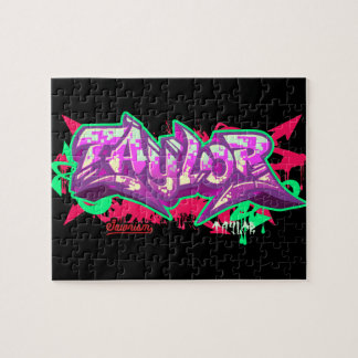 The name Taylor in graffiti-Puzzle Puzzle