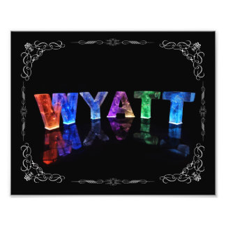 The Name Wyatt -  Name in Lights (Photograph) Photo Print