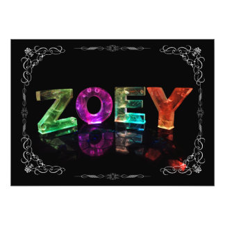 The Name Zoey -  Name in Lights (Photograph) Photo Art