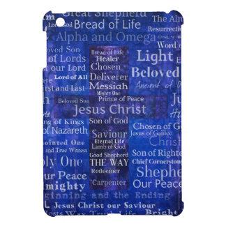 The Names of Jesus Christ blue cross art Case For The iPad Mini