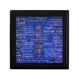 The Names of Jesus Christ blue cross art Gift Box