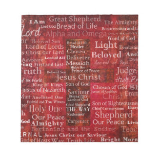 The Names of Jesus Christ From the Bible Notepad