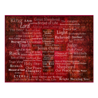 The Names of Jesus Christ From the Bible Postcard