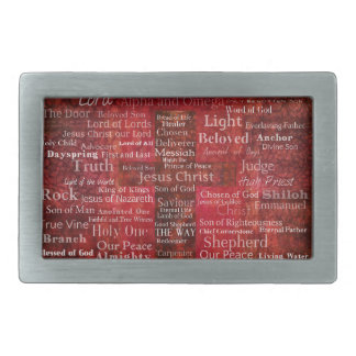 The Names of Jesus Christ From the Bible Rectangular Belt Buckles