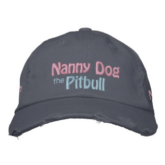 The Nanny Dog, American Pit Bull Terrier, APBT Embroidered Hats