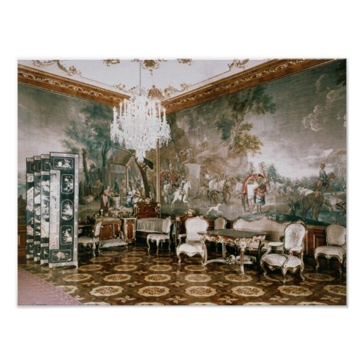The Napoleon Room at Schonbrunn Palace Print