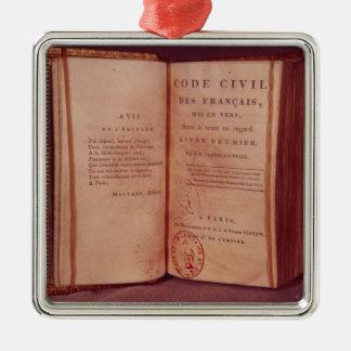 The Napoleonic Code Metal Ornament