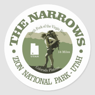 The Narrows Classic Round Sticker