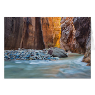 The Narrows Of The Virgin River In Autumn 2 Greeting Card