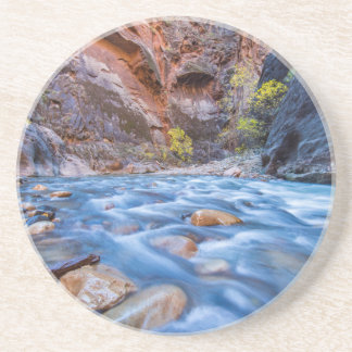 The Narrows Of The Virgin River In Autumn 3 Drink Coasters