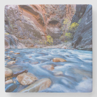The Narrows Of The Virgin River In Autumn 3 Stone Coaster