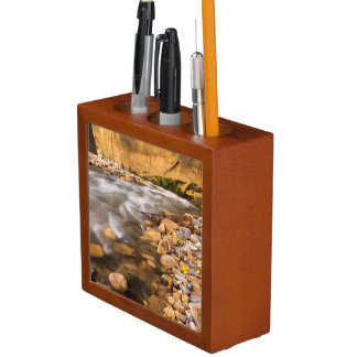 The Narrows Of The Virgin River In Autumn 4 Desk Organizer