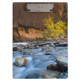 The Narrows Of The Virgin River In Autumn Clipboards