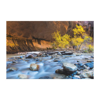 The Narrows Of The Virgin River In Autumn Stretched Canvas Prints