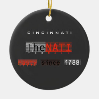 The Nasty NATI (Cincinnati) Ornament