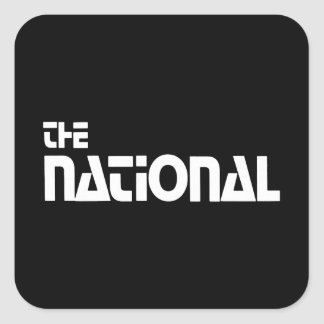 The National - 1980 promo graphic - White Square Sticker