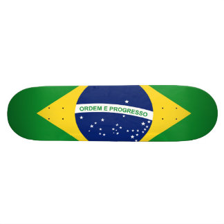 The national flag Federative Republic of Brazil Skate Deck