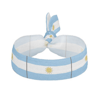 The national flag of Argentina Hair Tie