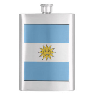 The national flag of Argentina Hip Flask