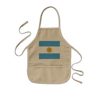 The national flag of Argentina Kids Apron