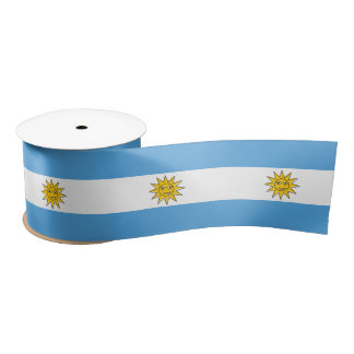 The national flag of Argentina Satin Ribbon