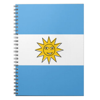 The national flag of Argentina Spiral Notebook