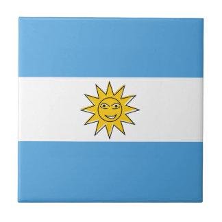 The national flag of Argentina Tile
