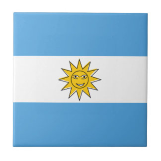 The national flag of Argentina Tiles